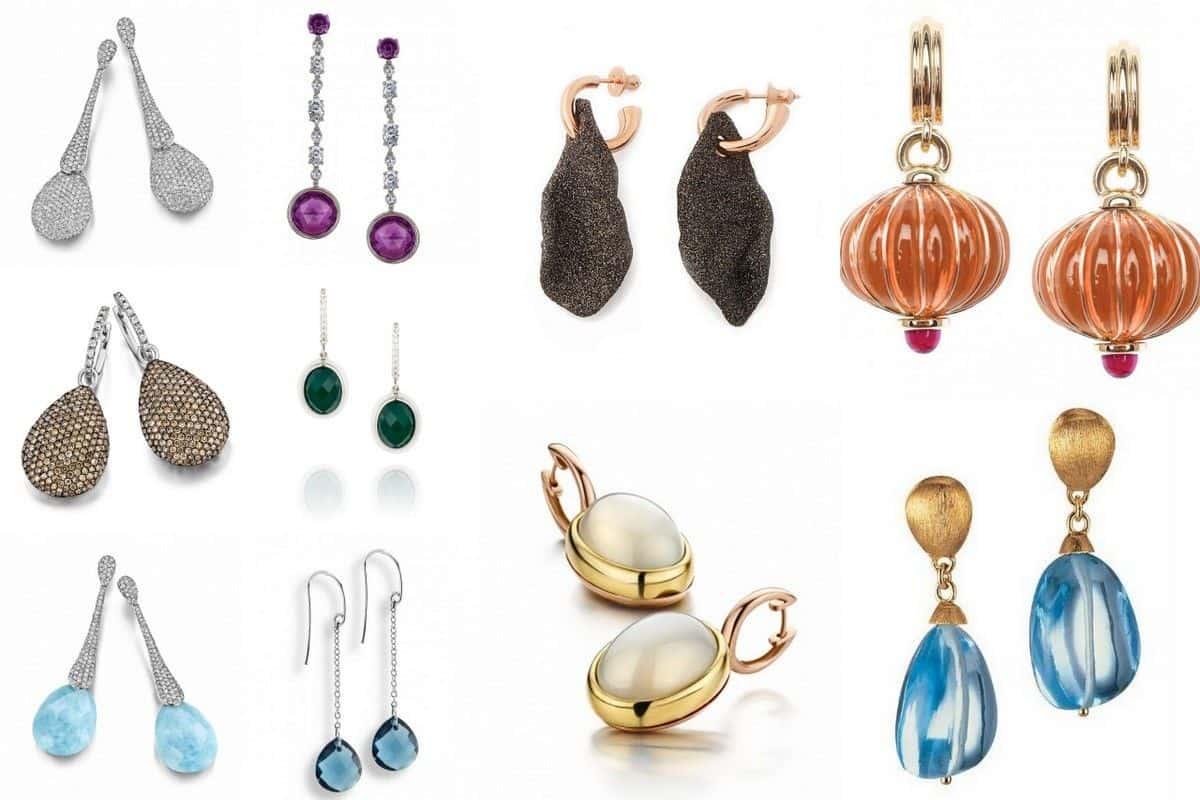 أنواع من أقراط المجوهرات
