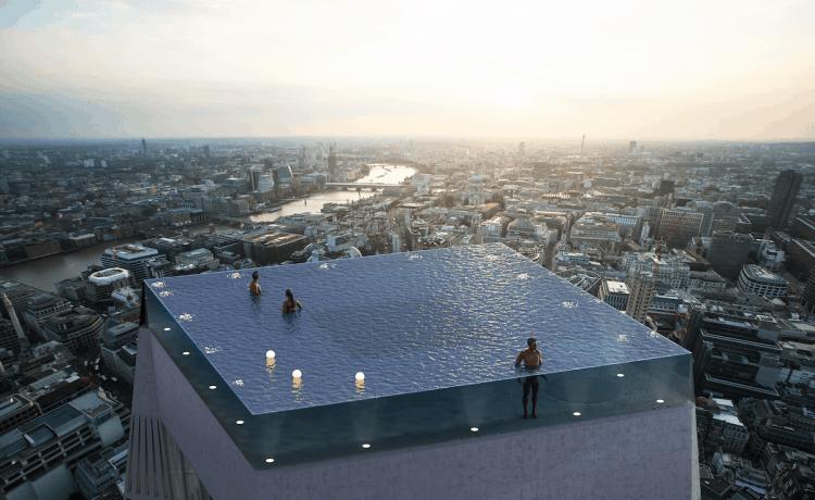 e8030f009 أعلى مسبح بتصميم مخيف يمكنك من رؤية مدينة لندن | عالم حواء لايف