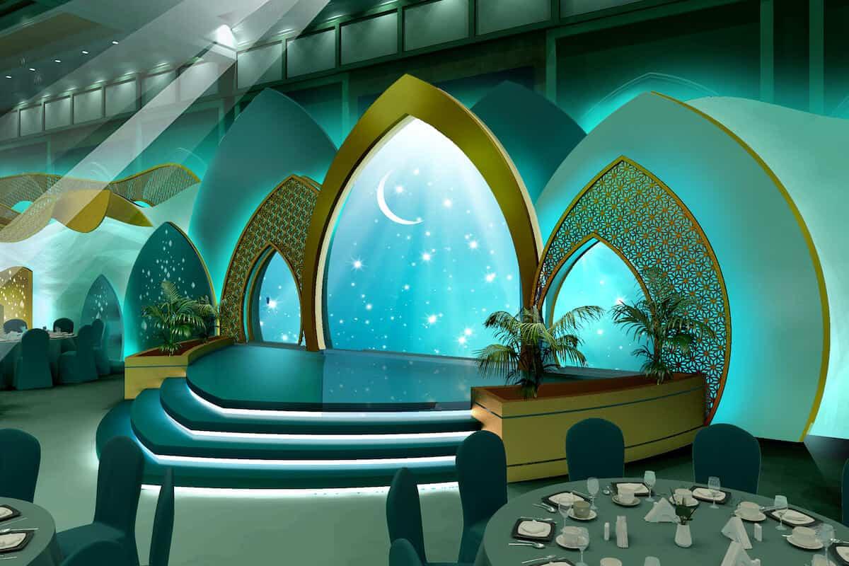 برج العرب بتصاميم فخمة لحفل زفافك