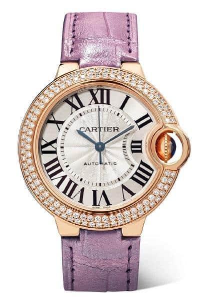 ساعة يدوية ملونة من دار كارتييه Cartier