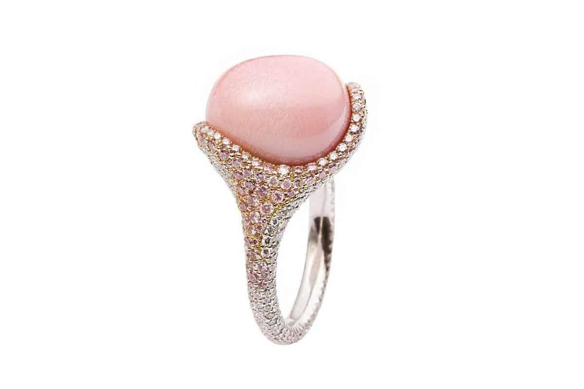أجمل موديلات الجواهر باللون الوردي الجميل
