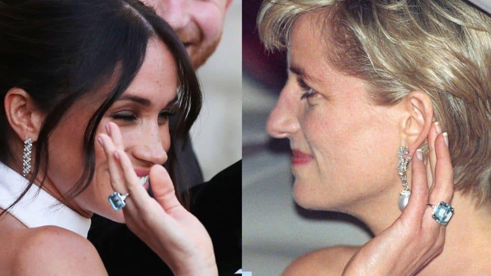 خاتم الأميرة ديانا التي ارتدته ميغان ماركل