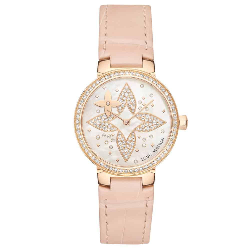 ساعة Tambour Slim Star Blossom من علامة Louis Vuitton