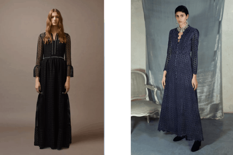 موديل الفساتين ذات الأكمام الطويلة بالألوان الداكنة