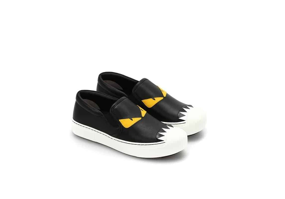 حذاء سنيكرز Bag Bug leather Slipon Sneakers من ماركة Fendi