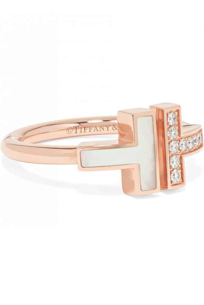 خاتم ذهبي من علامة تيفاني Tiffany