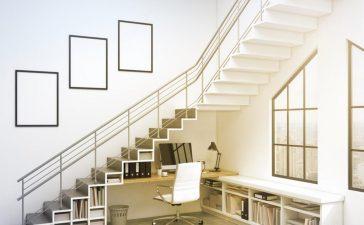 ديكور أسفل السلالم لاستغلال مساحتها بشكل مثالي