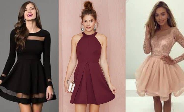أجمل تصاميم الفساتين القصيرة