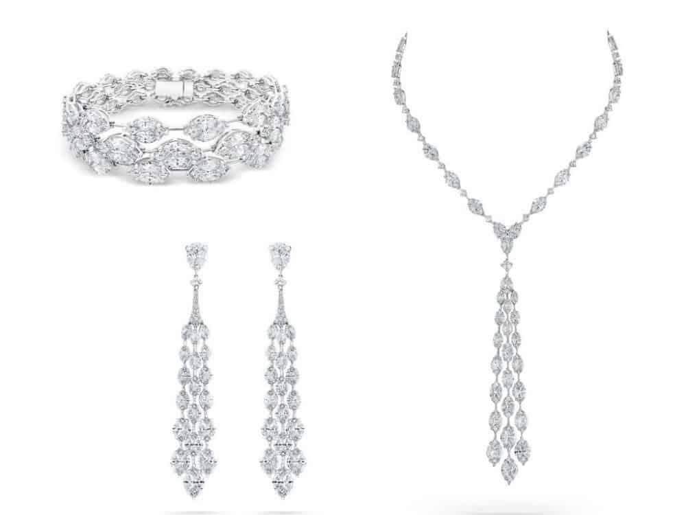 طقم مجوهرات العروس من ماركة ديفيد موريس David Morris