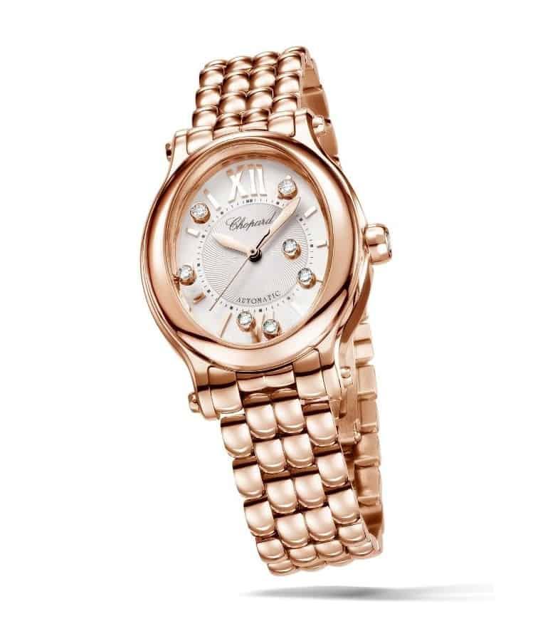 ساعة اليد Happy Sport Oval من ماركة شوبارد Chopard
