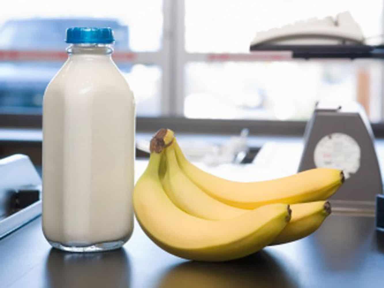 قناع الحليب والموز
