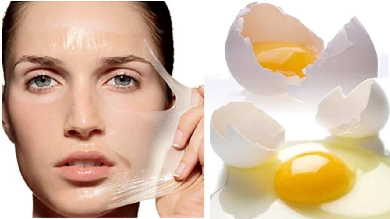 قناع أبيض البيض مع لبن الزبادي