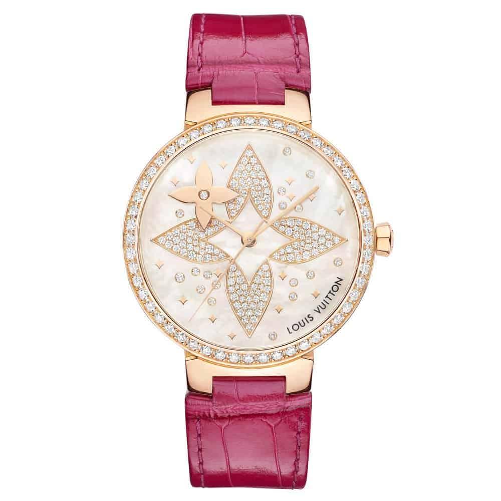 ساعة Tambour Slim Star Blossom من ماركة لويس فيتون Louis Vuitton