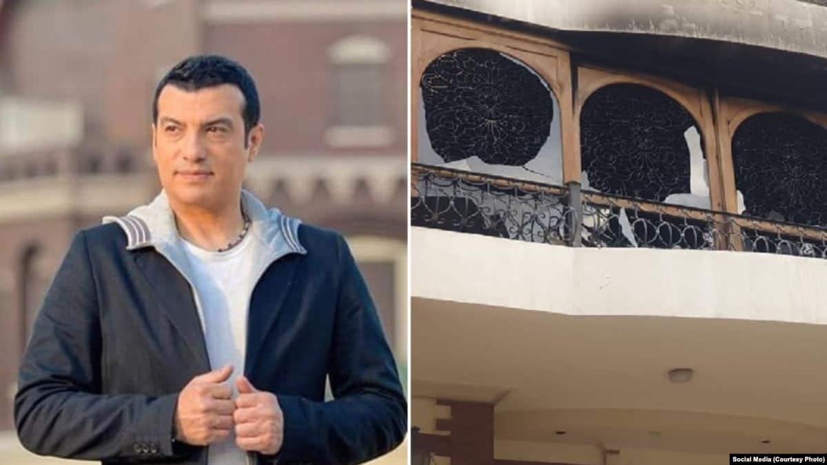 إيهاب توفيق يفقد والده بسبب حريق