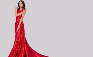 فساتين زفاف باللون الأحمر الجذاب