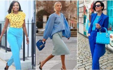 تنسيق الملابس مع اللون الازرق