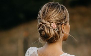 تسريحات زفاف للشعر المتوسط الطول