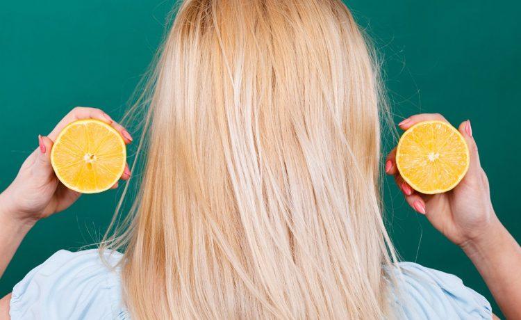 الليمون للتخلص من فراغات الشعر