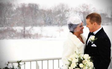 حفل زفاف في الشتاء