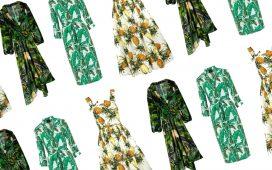 تشكيلة مميزة من الفساتين الصيفية بنقاشات استوائية منعشة وجذابة